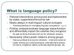 what is language policy