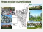 urban design to architecture