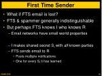 first time sender