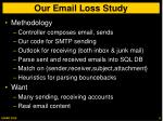 our email loss study