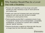 why families should plan for a loved one with a disability