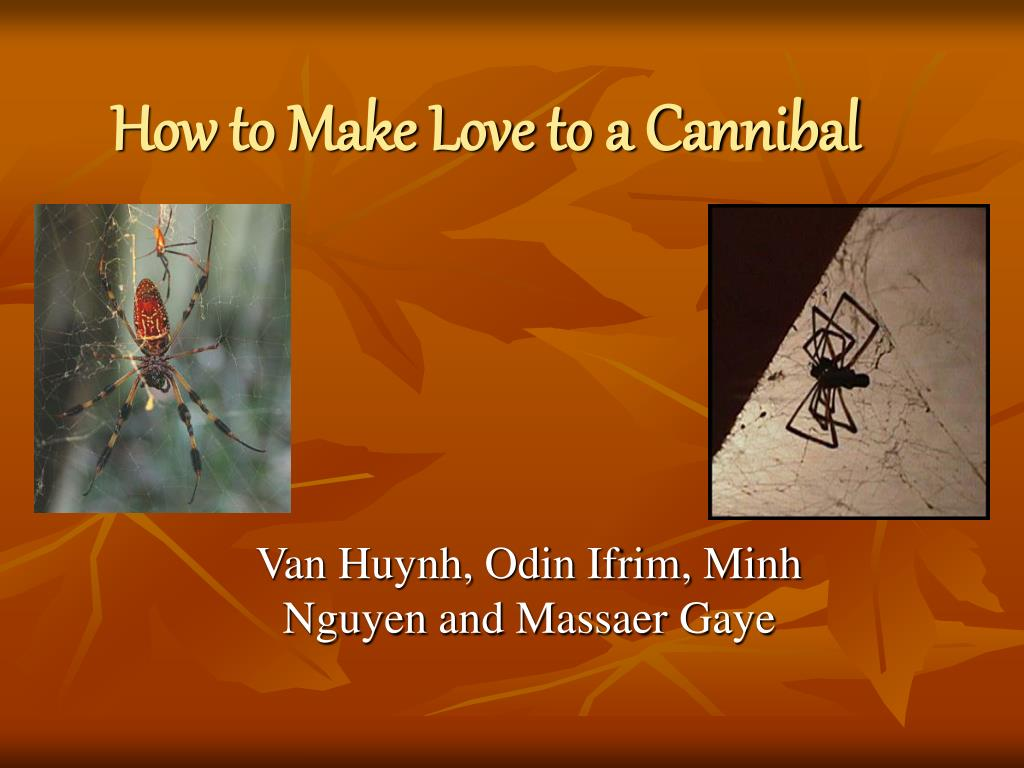 how to make love to a cannibal l.