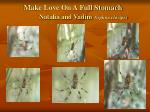make love on a full stomach natalia and vadim nephila clavipes