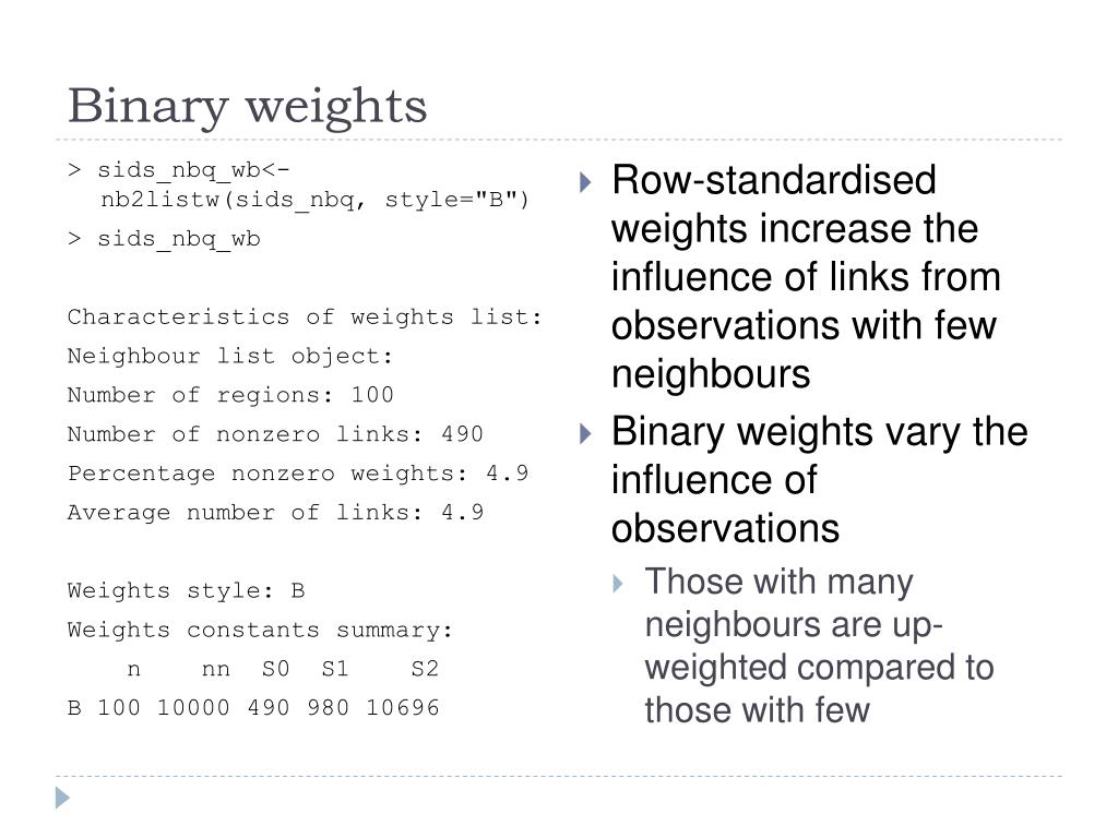 Binary weights