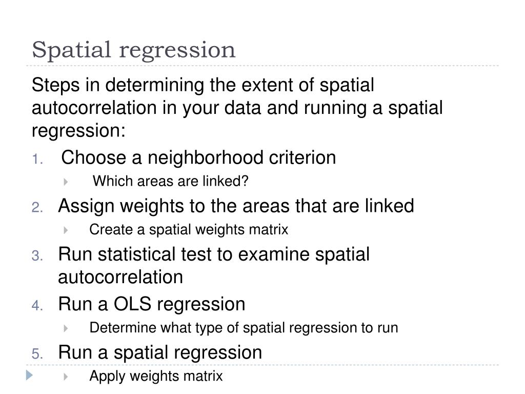 Spatial regression