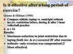 is it effective after a long period of exercise