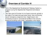 overview of corridor h