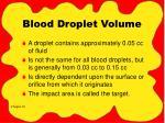 blood droplet volume