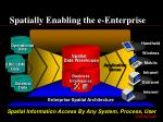 spatially enabling the e enterprise