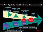 the new spatially enabled global business model