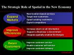 the strategic role of spatial in the new economy