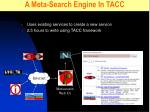 a meta search engine in tacc