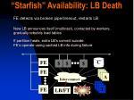 starfish availability lb death18
