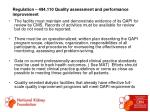 regulation 494 110 quality assessment and performance improvement50