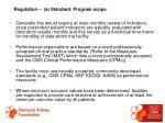regulation a standard program scope53