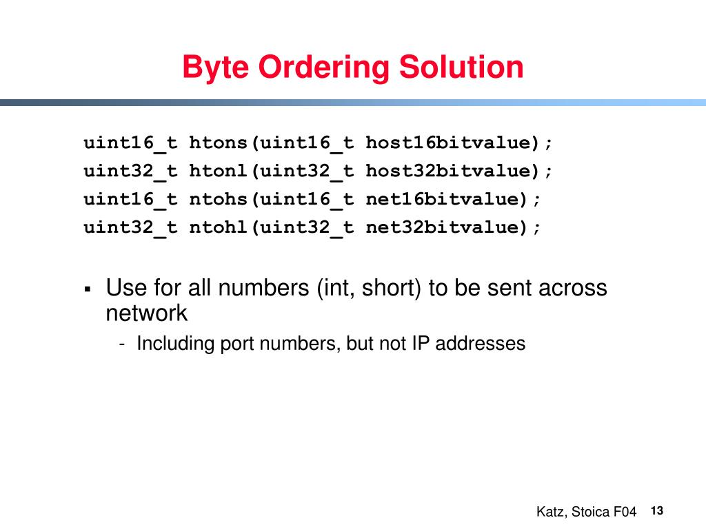 Byte Ordering Solution