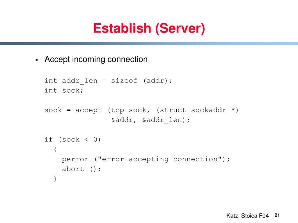 Establish (Server)