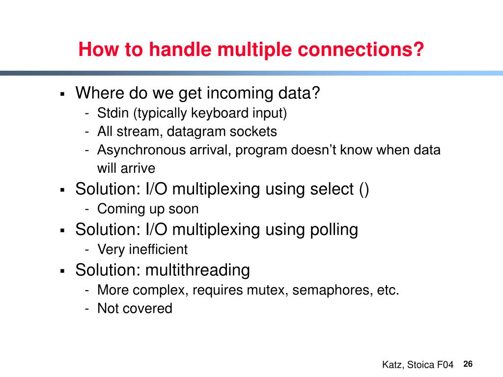 How to handle multiple connections?