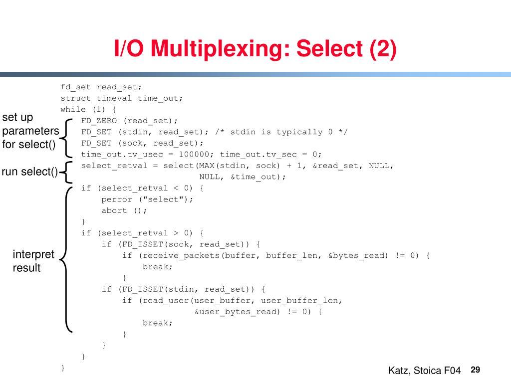 I/O Multiplexing: Select (2)
