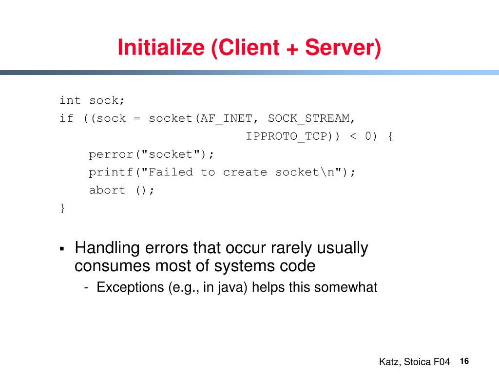 Initialize (Client + Server)