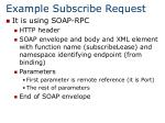 example subscribe request
