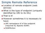 simple remote reference