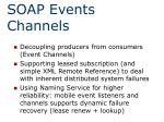 soap events channels