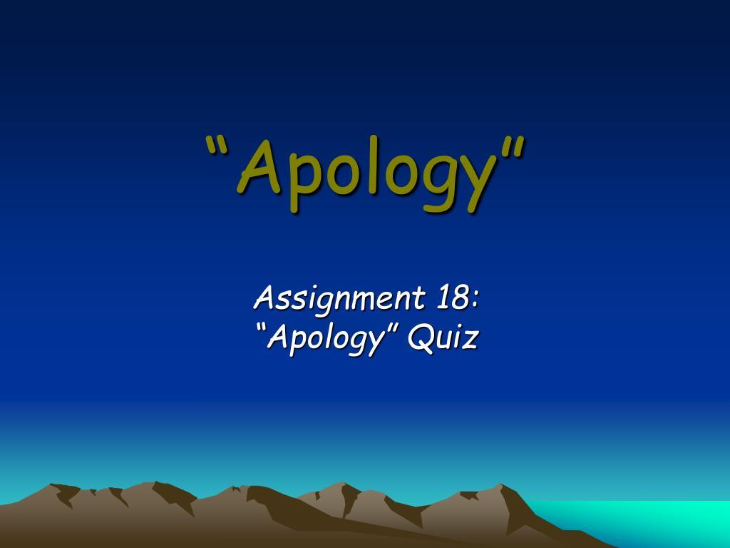 apology l.