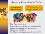 security compliance tools