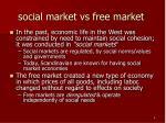 social market vs free market
