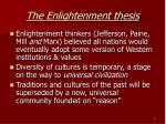 the enlightenment thesis