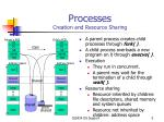 processes creation and resource sharing