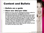 content and bullets22