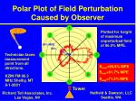 polar plot of field perturbation caused by observer