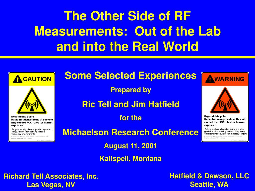 the other side of rf measurements out of the lab and into the real world l.