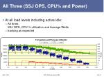 all three ssj ops cpu and power
