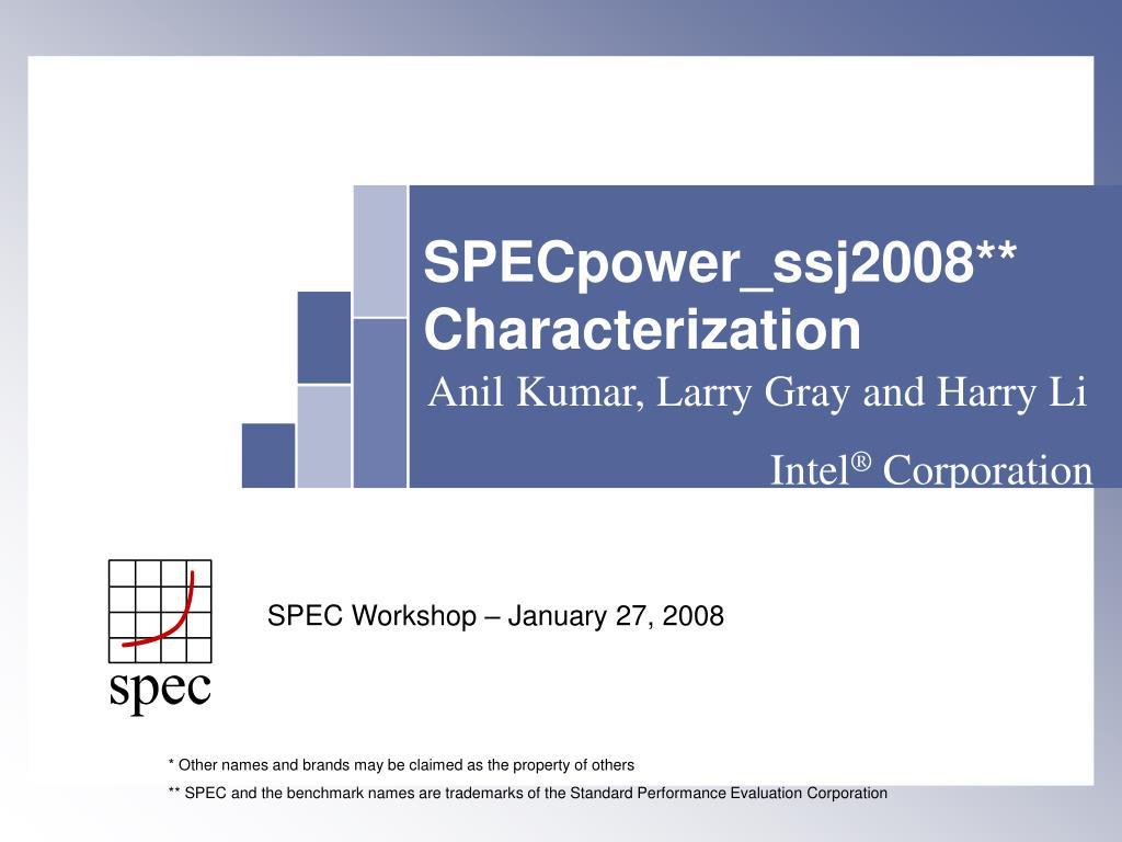 specpower ssj2008 characterization l.