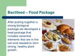 bactifeed food package