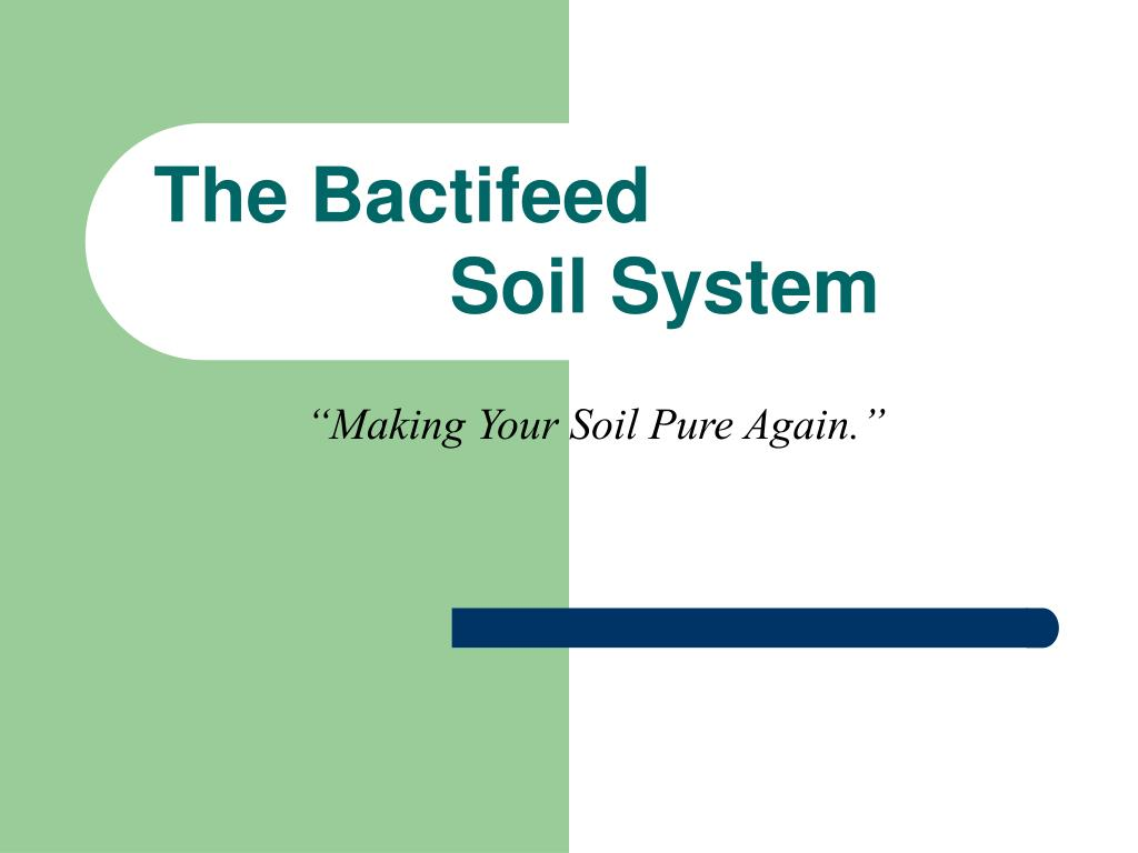 making your soil pure again l.
