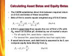 calculating asset betas and equity betas
