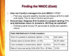 finding the wacc cont
