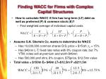 finding wacc for firms with complex capital structures