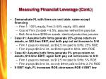 measuring financial leverage cont