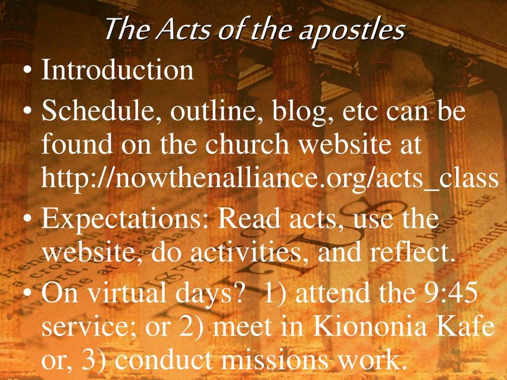 the acts of the apostles l.