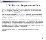 iirc district improvement plan