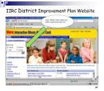 iirc district improvement plan website