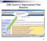 iirc district improvement plan website28