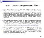iirc district improvement plan25