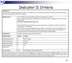 indicator 11 criteria