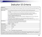 indicator 12 criteria